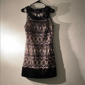 Black and white boutique dress